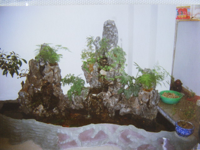 室內假山水池制作