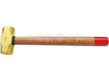 黃銅木柄八角錘002