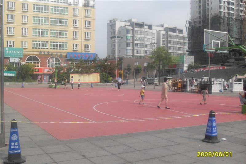 清镇市室外临时PVC篮球场